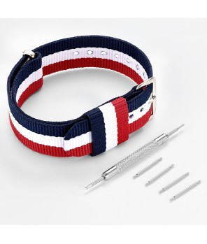 Classic Nylon Watch Strap with Pin Buckle