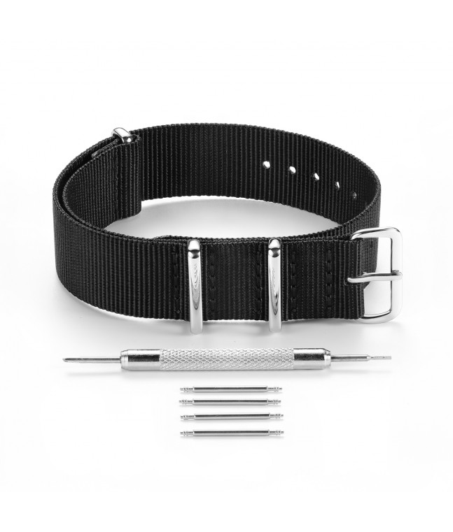 Nylond Watch Strap with Pin Buckle