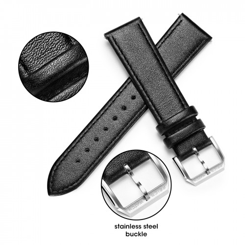 Black Genuine Leather Band