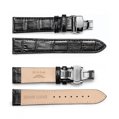 FEICE Genuine Leather Calfskin Watch Band